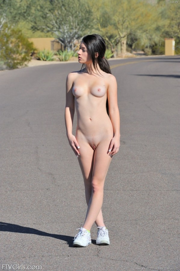 Lacy Goes for a Naked Walk